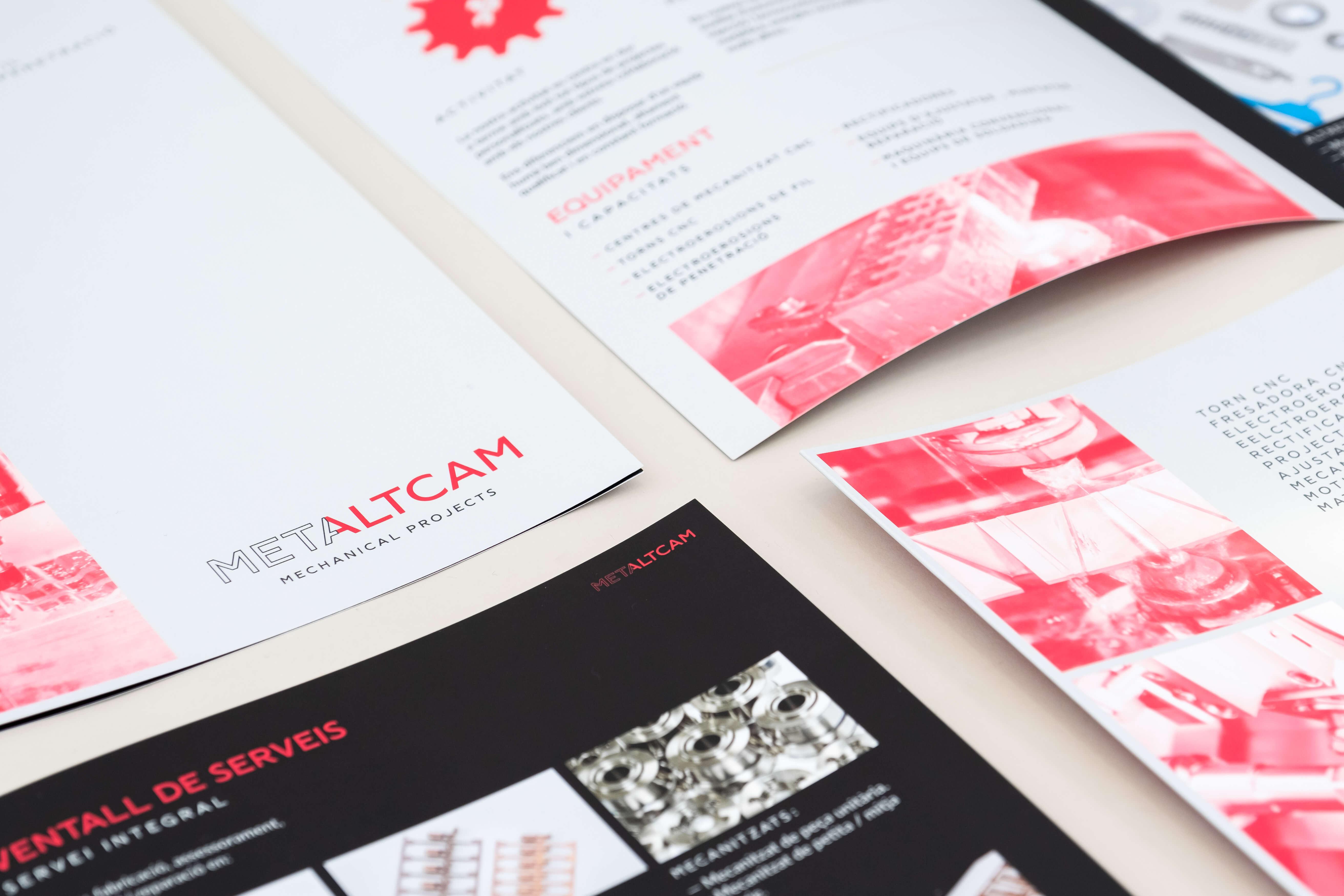 logo i brochure metaltcam valls
